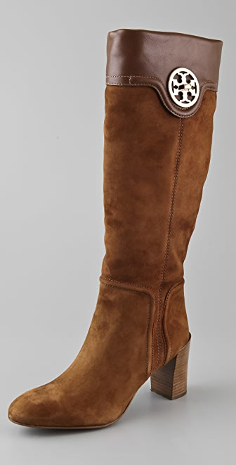 Tory Burch Selma Suede Mid Heel Boots