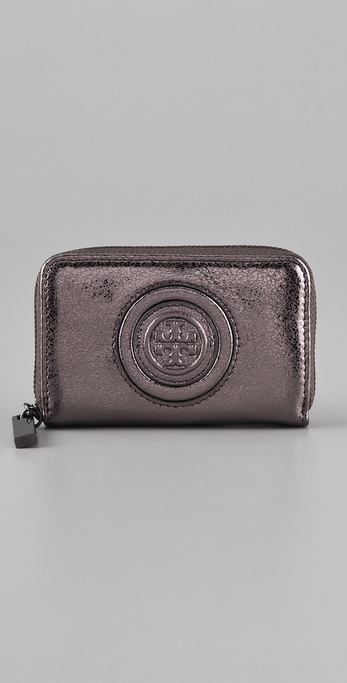 Tory Burch Vintage Metallic Zip Coin Case