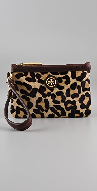 Tory Burch City Haircalf Wristlet