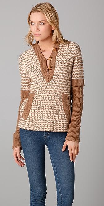 Tory Burch Jamie Hoodie Sweater