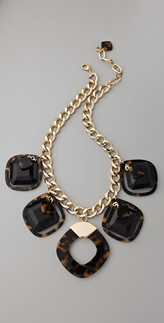 Tory burch resin square necklace shopbop for Tory burch jewelry amazon