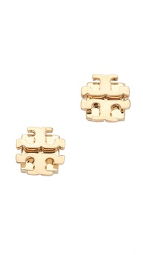 Tory Burch Small T Logo Studs