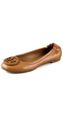 Tory Burch Reva Tumbled Logo Flats