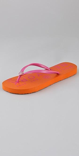 Tory Burch Traveler Flip Flops