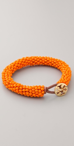 Tory Burch Logo Beaded Bracelet