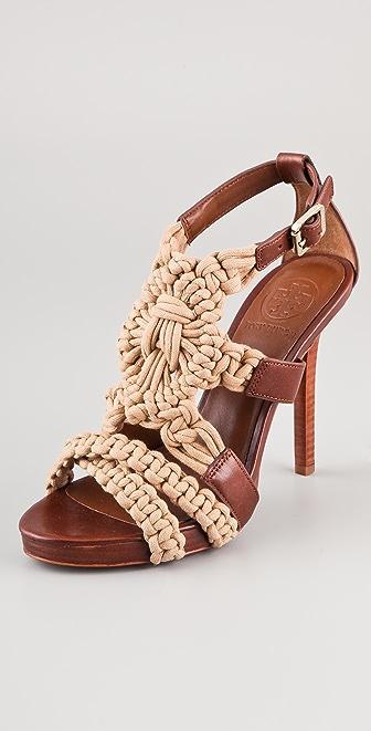 Tory Burch Fleur High Heel Sandals