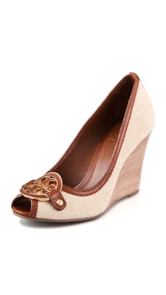 Tory Burch Amanda Open Toe Wedge Pumps