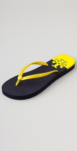 Tory Burch Stacked T Flip Flops