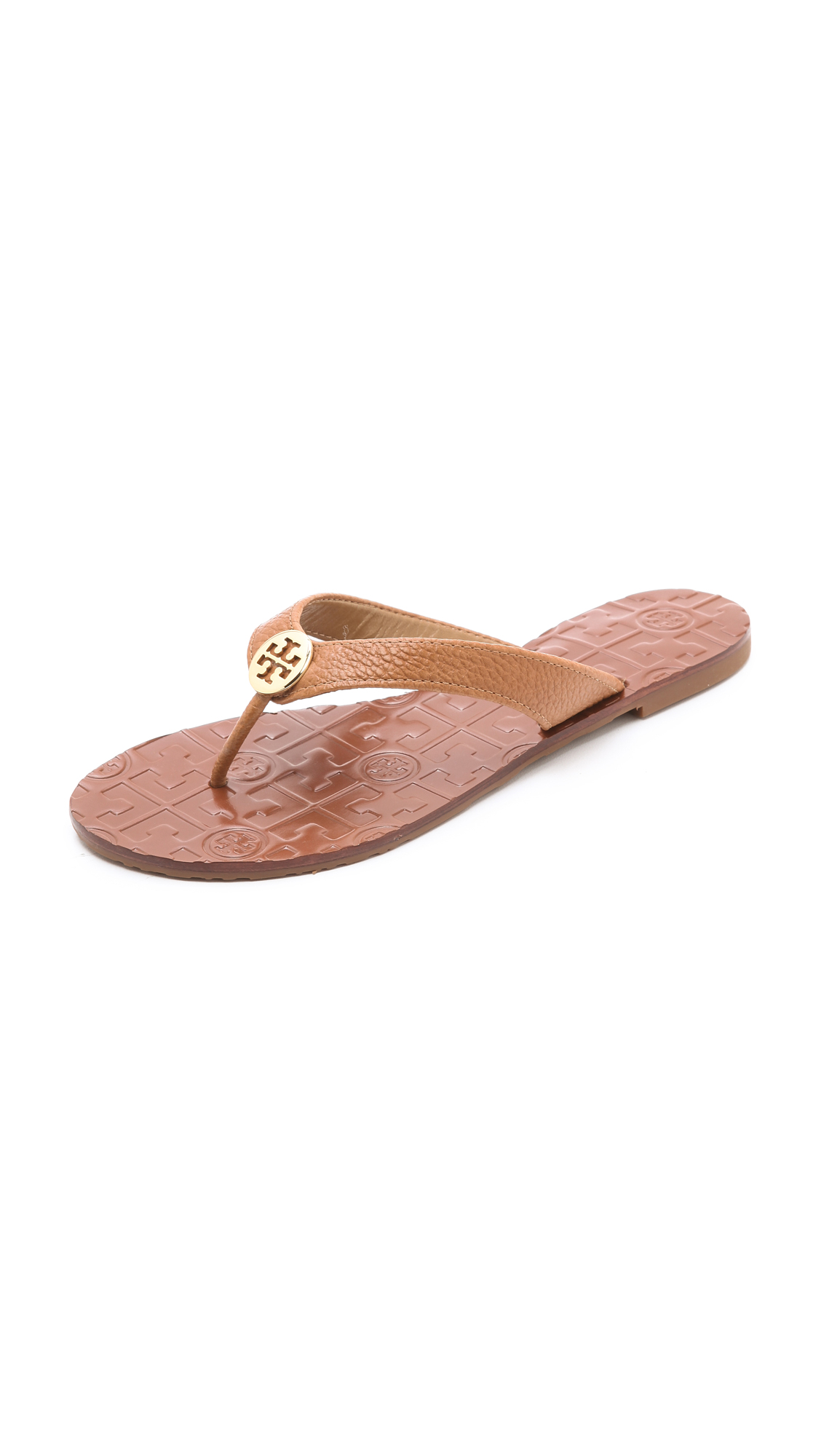 7587e37941948d Tory Burch Thora Flat Thong Sandals on PopScreen