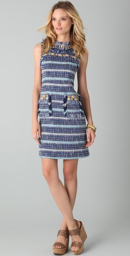 Tory Burch Curtis Tweed Dress