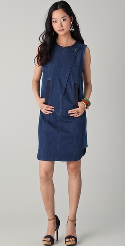Tory Burch Denim Pieced Dress