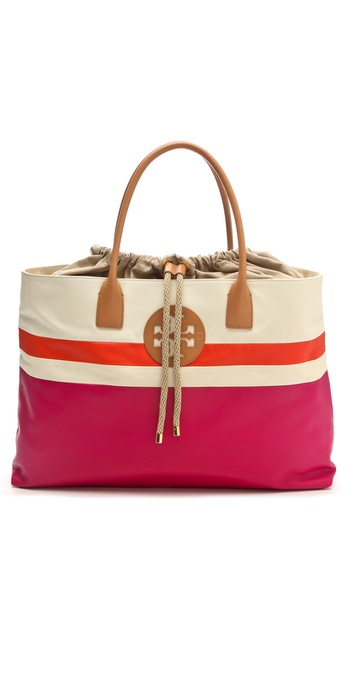 Tory Burch Dipped Drawstring Beach Tote