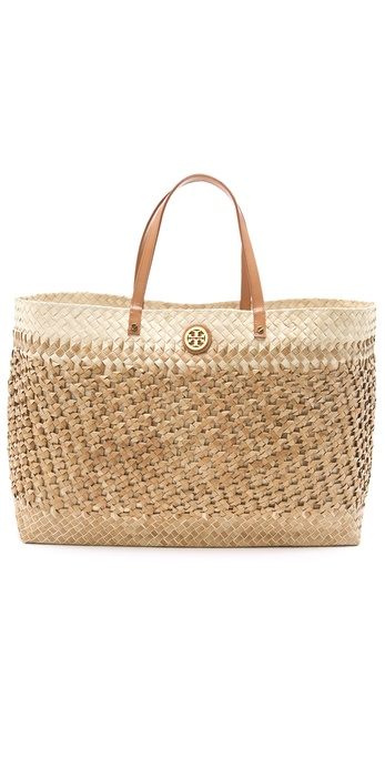 Tory Burch Large Straw Square Tote