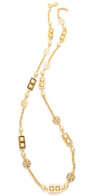 Tory burch framed ball necklace shopbop for Tory burch jewelry amazon