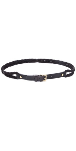 Tory Burch Leather and Rope Belt