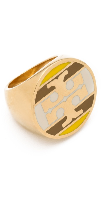 Tory Burch Striped Logo Ring