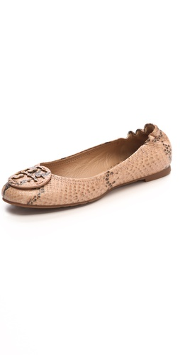 Tory Burch Reva Python Print Flats