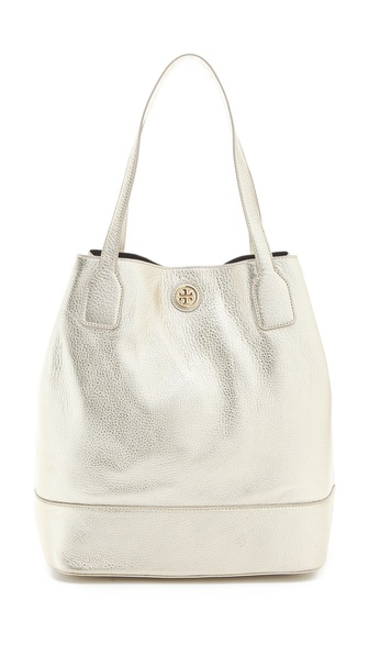 Tory Burch Metallic Angelux Michelle Tote