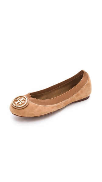 Tory Burch Caroline Suede Ballet Flats