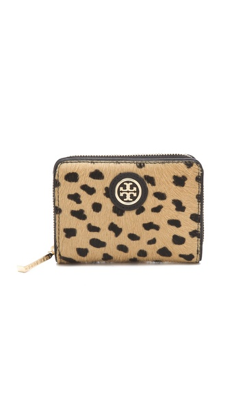 Tory Burch Robinson Haircalf Zip Coin Case
