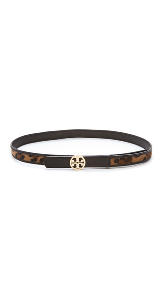 Tory Burch Haircalf Logo Belt