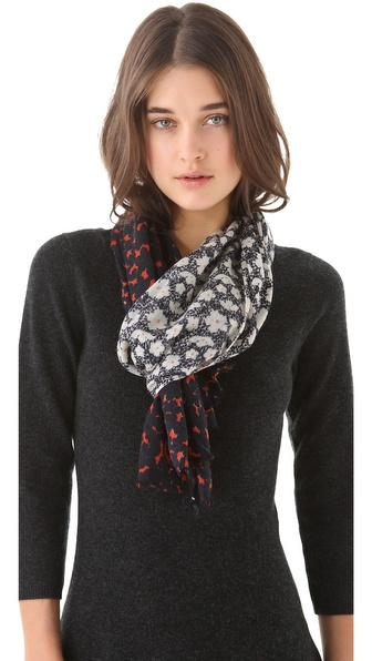 Tory Burch Fairmont Border Scarf