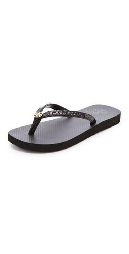 Tory Burch Adia Glitter Flip Flops