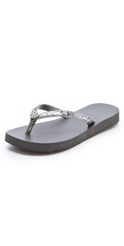 Tory Burch Adia Metallic Flip Flops