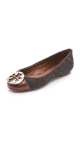 Tory Burch Parker Cap Toe Logo Flats