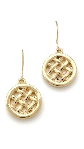 Tory Burch Labyrinth Grid Dangle Earrings