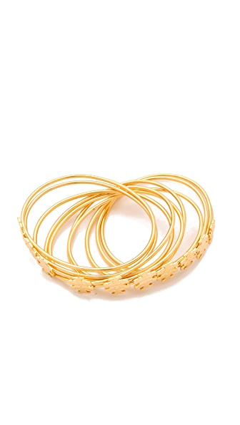 Tory Burch Logo T Stacking Bangle Set