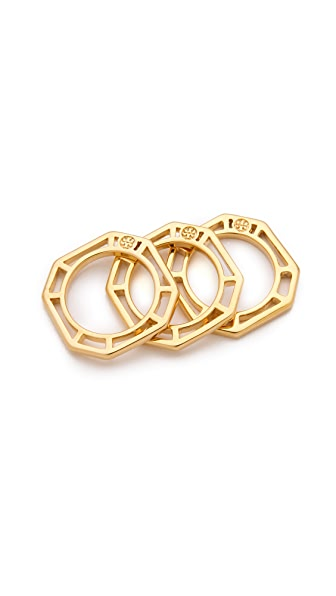Tory Burch Audrina Stacking Ring Set