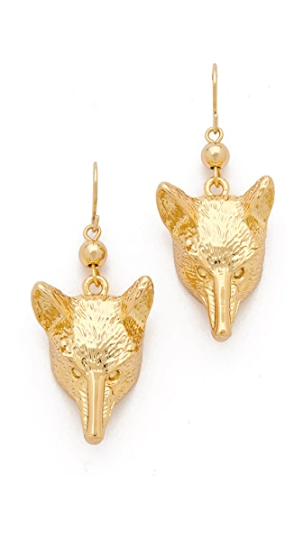 Tory Burch Fox Head Earrings