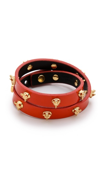 Tory Burch Fox Stud Wrap Bracelet