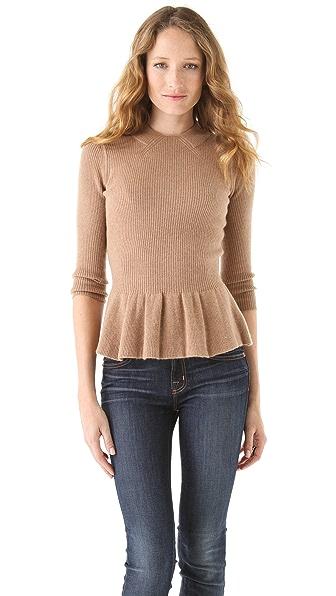 Tory Burch Madeline Peplum Sweater