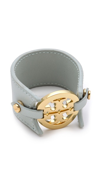 Tory Burch Logo Double Snap Cuff