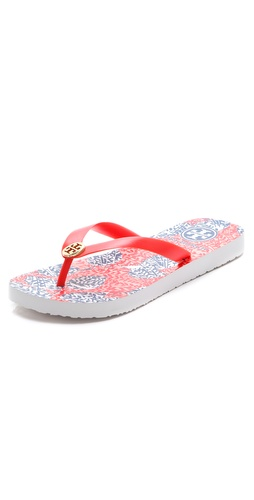 Tory Burch Logo Flip Flops