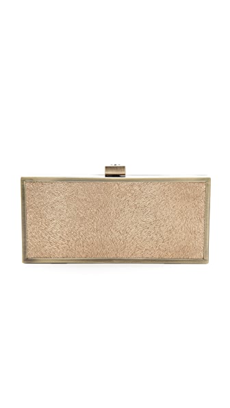 Tory Burch Sparkle Suede Square Clutch