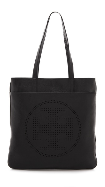 Tory Burch Perforated Logo Flat Tote