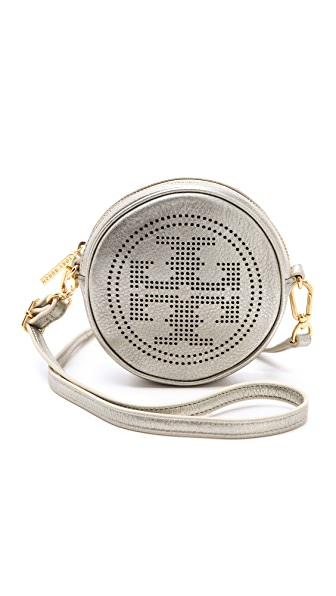 Tory Burch Metallic Logo Cross Body Bag