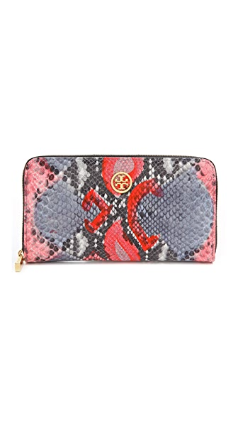 Tory Burch Violet Zip Continental Wallet