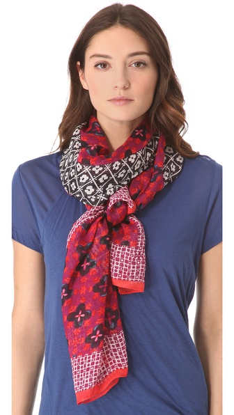 Tory Burch Isabelle Mix Print Scarf