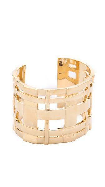 Tory Burch Gingham Hollow Cuff