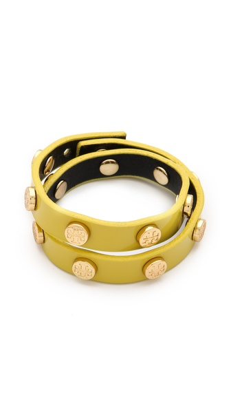 Tory Burch Double Wrap Logo Bracelet
