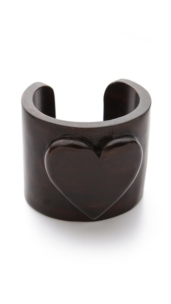 Tory Burch Wooden Heart Cuff