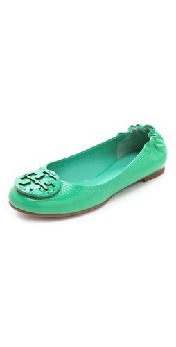 Shop Tory Burch Reva Tumbled Patent Flats and Tory Burch online - Footwear,Womens,Footwear,Flats, online Store