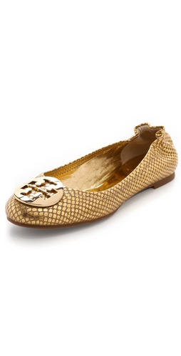 Shop Tory Burch Reva Metallic Snake Flats and Tory Burch online - Footwear,Womens,Footwear,Flats, online Store