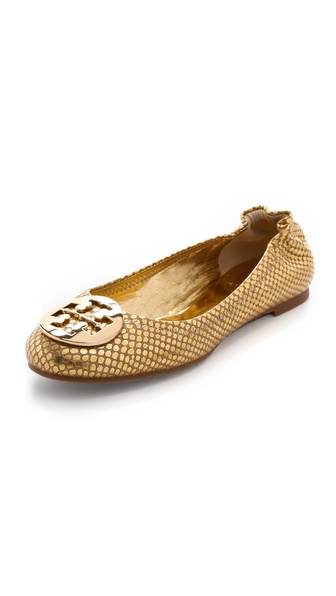 Tory Burch Reva Metallic Snake Flats