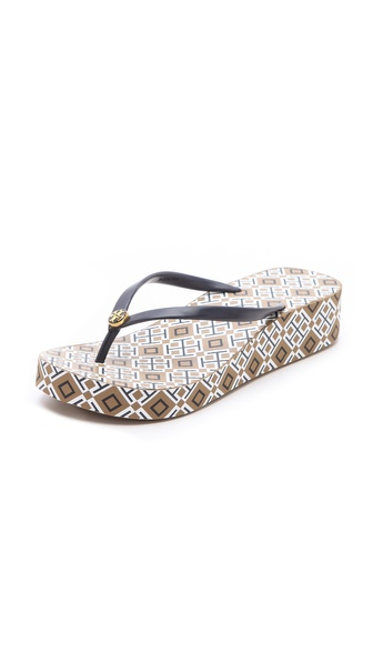 Tory Burch Thandi Wedge Flip Flops