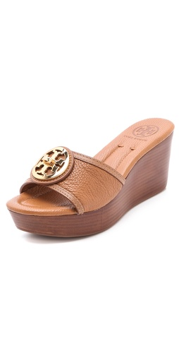 Shop Tory Burch Selma Wedge Mules and Tory Burch online - Footwear,Womens,Footwear,Sandals, online Store